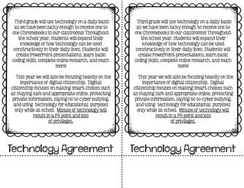 Back to School Night Flip Book Editable