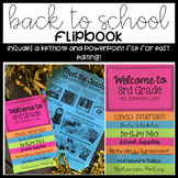Back to School Night Flip Book Editable