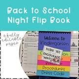 Back to School Night Flip Book