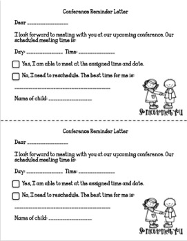 Back to School Night Forms