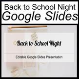 Back to School Night Google Slides Editable Template [Edit