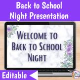 Back to School Night Google Slides Presentation