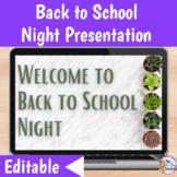 Back to School Night   Google Slides Presentation   Succulents