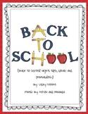 Back to School Night Ideas/printables ** FREEBIE**