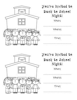 Back to School Night Invitation