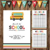 Back to School Night || Invite || Volunteer Sign Up Sheet