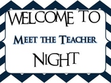 Back to School Night Labels- Great for Before School Ends