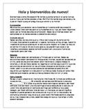 Back to School Night Letter Spanish editable
