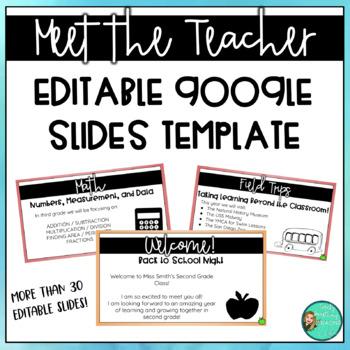 Back to School Night/Meet the Teacher EDITABLE Google Slides Presentation