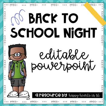 Back to School Night/ Meet the Teacher Editable Powerpoint- Cool Turquoise