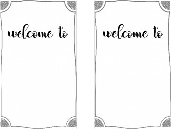 Back to School Night/Meet the Teacher Editable Tabbed Booklet