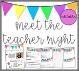 Back to School Meet the Teacher Night Editable Classroom Kit!