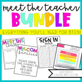 Back to School Night | Meet the Teacher Template Editable | Open House Bundle