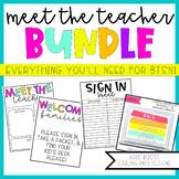 Back to School Night | Meet the Teacher Template Editable | Open House Bundle