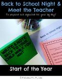 Back to School Night & Meet the Teacher Organization Materials