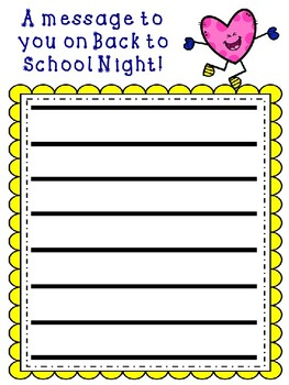 Back to School Night Message