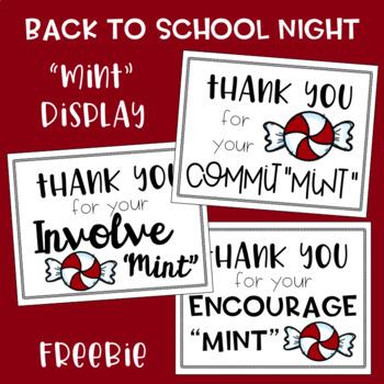"""Back to School Night """"Mint"""" Display Freebie"""