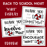 "Back to School Night ""Mint"" Display Freebie"