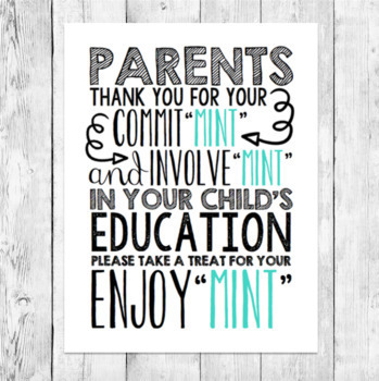 Back to school night mint pun parent gift word art teacher back to school night mint pun parent gift word art teacher conferences printable negle Image collections