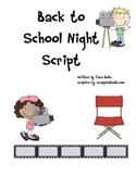 Back to School Night Movie Script Revised