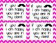 Back to School Night Mustache Scavenger Hunt 1st Grade