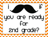 Back to School Night Mustache Scavenger Hunt 2nd Grade