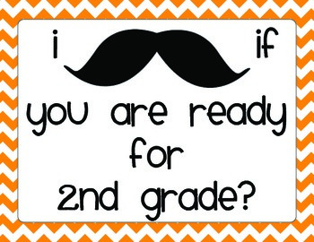 Back to School Night Mustache Scavenger Hunt 2nd Grade