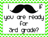 Back to School Night Mustache Scavenger Hunt 3rd Grade