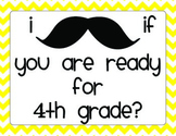 Back to School Night Mustache Scavenger Hunt 4th Grade
