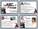 Back to School Night Nautical-Themed PowerPoint and Parent Packet