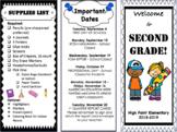 Back-to-School Night - Open House - Meet the Teacher (Editable Tri-Fold)