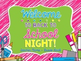 Back to School Night / Open House PowerPoint Presentation