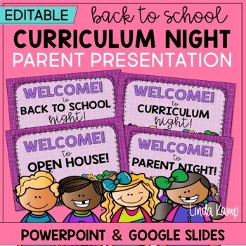 back to school night open house powerpoint template- editable, Modern powerpoint