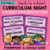 Back to School Night Parent Open House PowerPoint - EDITABLE Brights Edition