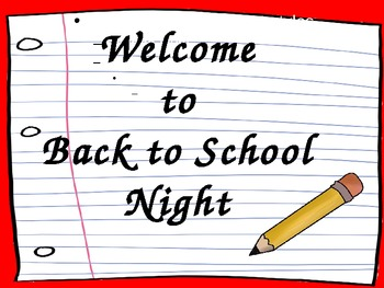 Back to School Night (Open House) Powerpoint Presentation