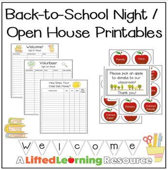 back-to-school night / open house printableslifted learning | tpt, Powerpoint templates