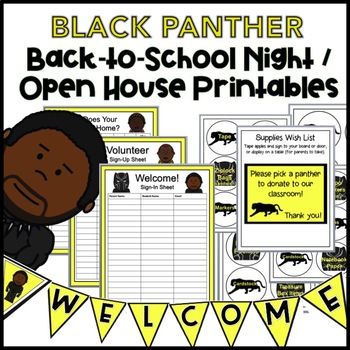 graphic regarding Welcome to Our Open House Printable referred to as Back again-towards-Faculty Evening / Open up Property Printables: BLACK PANTHER