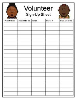 Back-to-School Night / Open House Printables: BLACK PANTHER