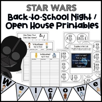photo regarding Welcome to Our Open House Printable named Again in direction of Higher education Evening / Open up Household Printables: Star Wars