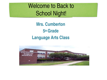 Back to School Night PPT