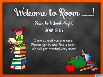 Back-to-School Night PPT *editable*