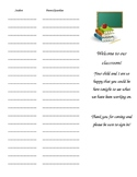 Back to School Night Packet