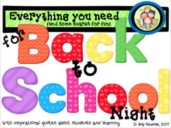 Back to School Night/ Parent Night Complete Tool Kit