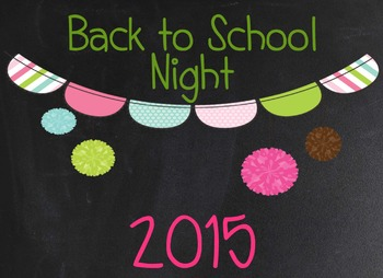 Back to School Night / Parent Night PowerPoint and Fan Book - {EDITABLE}