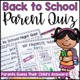 Back to School Night Parent Quiz!