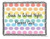 Back to School Night Parent Quiz