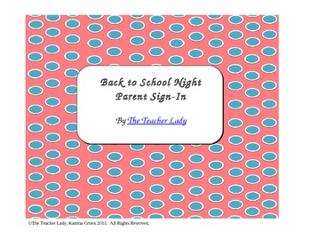 Back to School Night Parent Sign-In