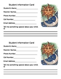 Back to School Night Parent / Student Information Card