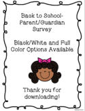 Back to School Night- Parent Survey!
