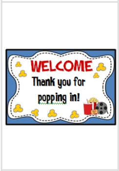 Back-to-School Night/ Parent-Teacher Conference Popcorn Wrapper